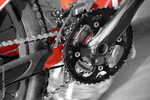 Keuken foto achterwand Retro bicycle parts