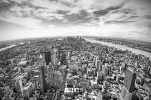 Panoramic View Over Manhattan,...