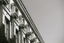 Parisian Building Facade In Bl...