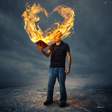 Bible And Fire Heart
