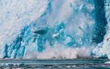 Northwestern Glacier calving into the sea