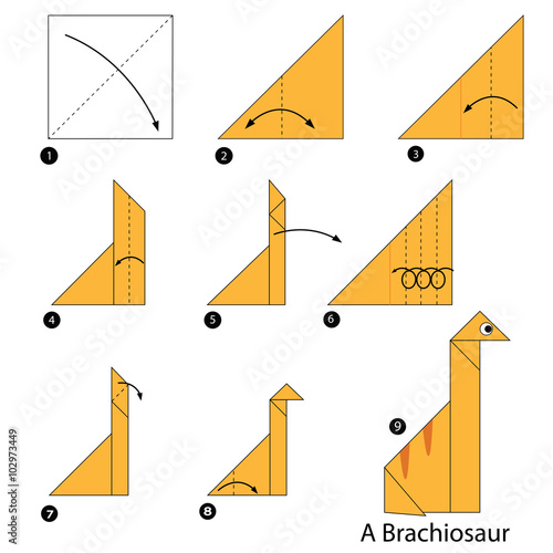 Origami Dinosaurs, a list of online, origami-dinosaur diagrams ... | 500x500