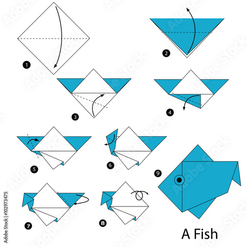 Origami Fish and Other Sea Creatures Kit: 20 Original Models by ... | 500x500