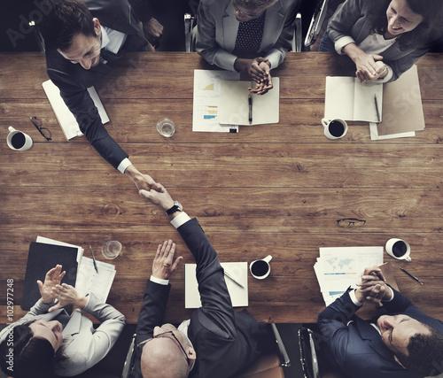 Fotografía  Business Team Meetng Handshake Applaud Concept