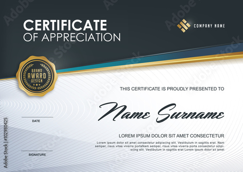 Cuadros en Lienzo certificate template with Luxury and modern pattern,