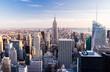 Manhattan from observation deck at Rockefeller Center, New York