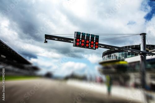 Plakat Rozpoczęcie toru wyścigowego