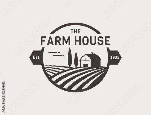 Fototapeta Farm House vector logo. obraz