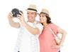 Happy couple taking photo