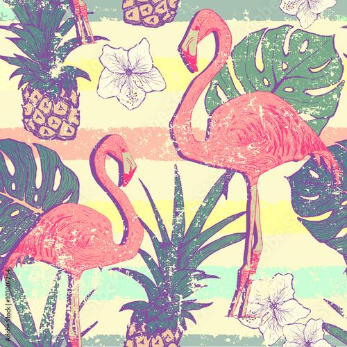 bezszwowy-wzor-z-flamingo-ptakami-i-ananasami