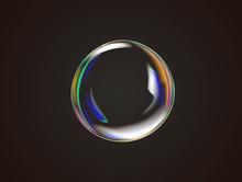 Transparent Rainbow Soap Bubbl...