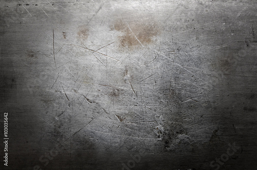Poster de jardin Metal Scratched metal background