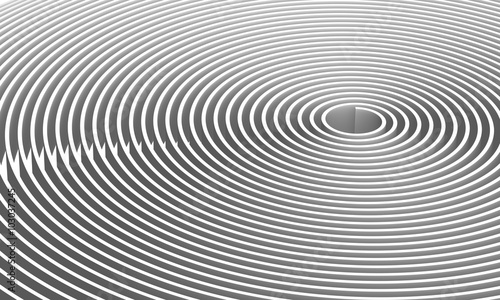 Valokuvatapetti Background pattern 3d spirals, abstract digital illustration