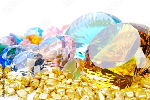Gold and diamonds - 103044051