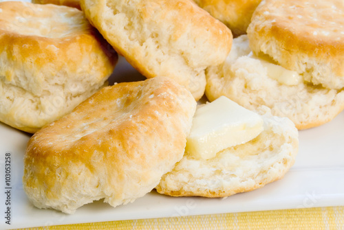 Pinturas sobre lienzo  Homemade Baked Biscuits with Butter