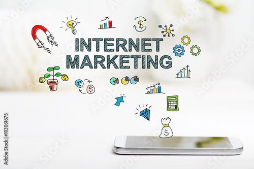 Internet Marketing concept with smartphone