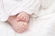 Leinwanddruck Bild - baby feet