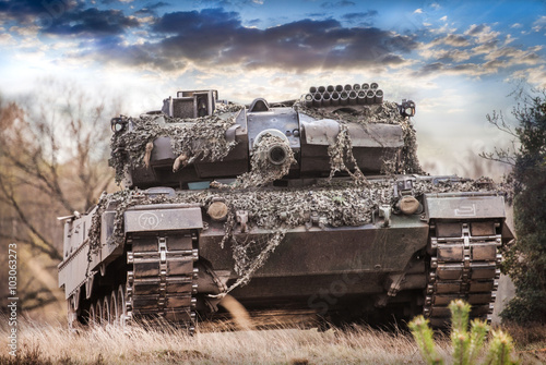 Fotografie, Tablou  Kampfpanzer Deutschland, main battle tank germany