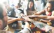 canvas print picture - Team Unity Friends Meeting Partnership Concept