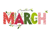 March Month Name.