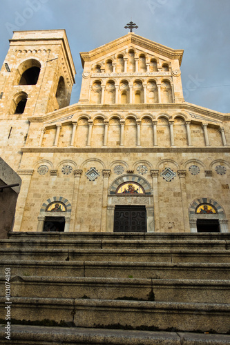 Foto op Plexiglas Xian Stairway in front of entrance to Cagliari cathedral, Sardinia, Italy