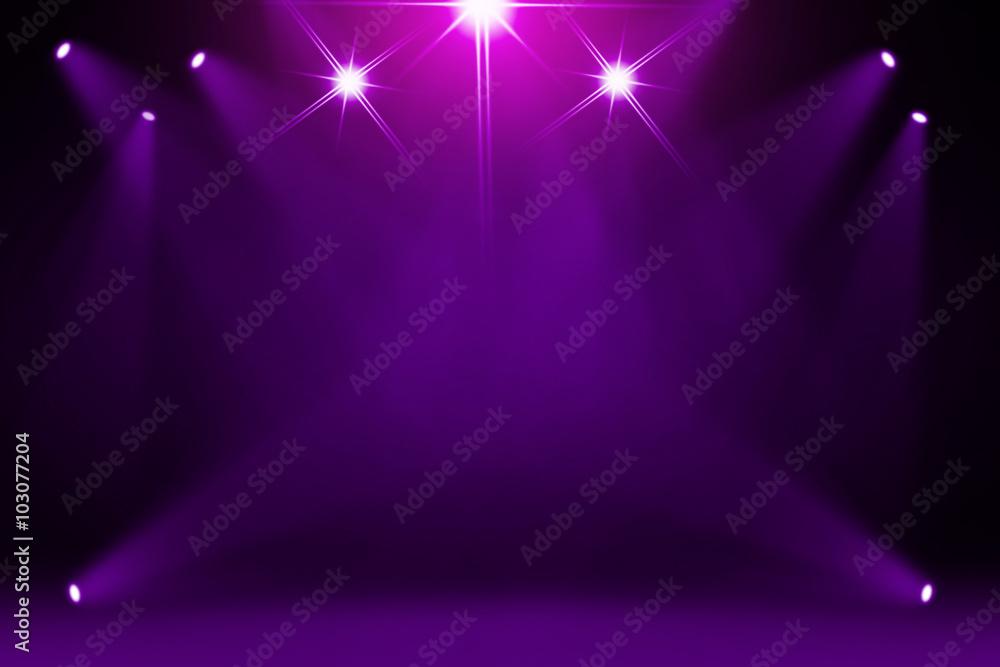 Fototapety, obrazy: Purple stage background