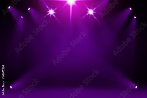 Door stickers Light, shadow Purple stage background