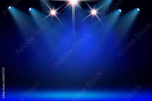 Fotografia Blue stage background