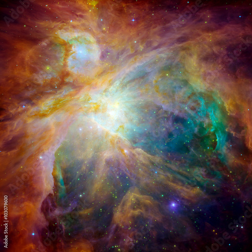Photo  Hubble panoramic view of Orion Nebula reveals thousands of stars