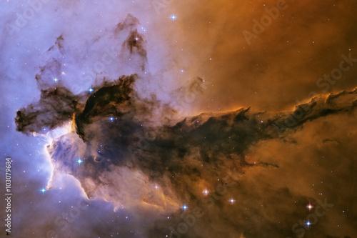 Fotografie, Obraz  Eagle Nebula. Gas and dust rises from the stellar nursery.