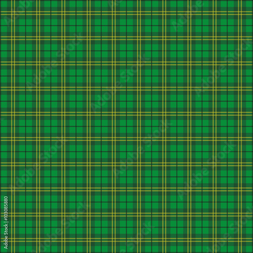 Green Irish Tartan Fabric - Buy this stock vector and