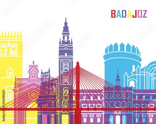Badajoz skyline pop