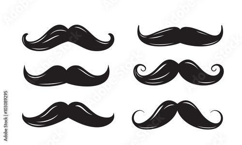 Canvastavla black mustache icons