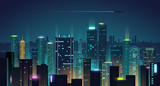 Fototapeta Miasto - Night city background