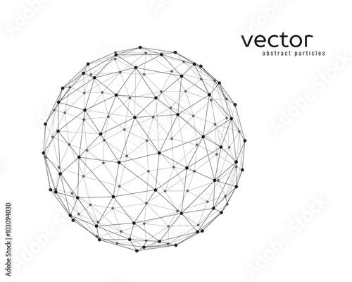 Fotografía  Vector illustration of sphere