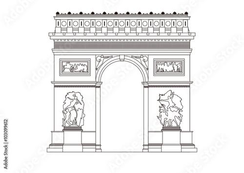 Valokuva  イラスト「パリの凱旋門」