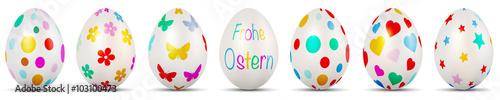 Bunte Ostereier - Frohe Ostern