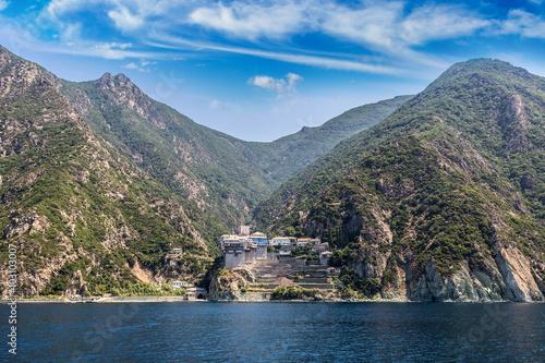 Obraz na plátně Dionisiou Monastery on Mount Athos