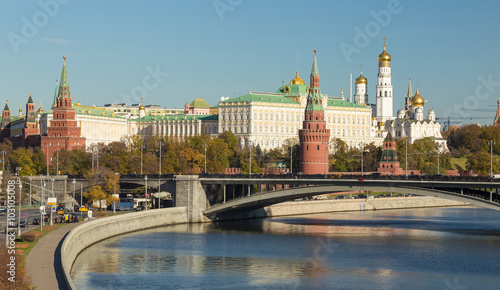 Fototapety, obrazy: Famous Moscow Kremlin and Moskva rive