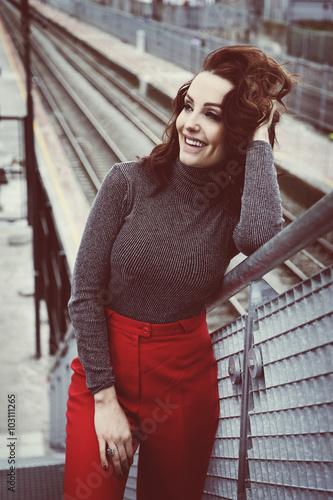 Fotografie, Obraz  beauté femme mode brune style vintage