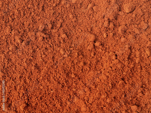 plakat Red sand after rain. Maxixe, Inhambane, Mozambique, East Africa, Southern Africa