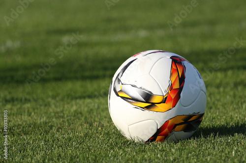 Photo Fußball auf dem Rasen