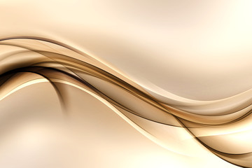 Abstract background with gold lines and waves. Composition of shadows and lights