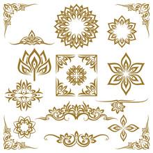 Thai Ethnic Decorative Elements Vector. Element Ethnic, Decorative Ornament, Ethnic Thai Illustration