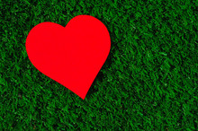 Holiday Card: Red Paper Heart ...