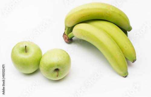 Fototapeta bananas and apples obraz na płótnie