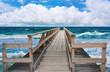 Wooden pier on the beach.