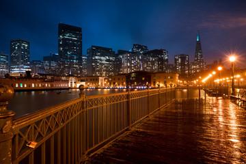 San Francisco Pier 7 at night