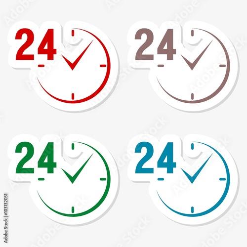 Fényképezés  24 hours circular icons set