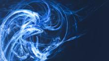 Blue Fast Moving Bright Lights